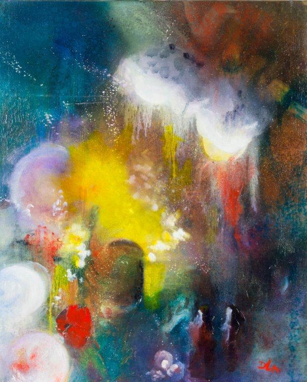 peinture-regard-fleur-coton-coquelicot